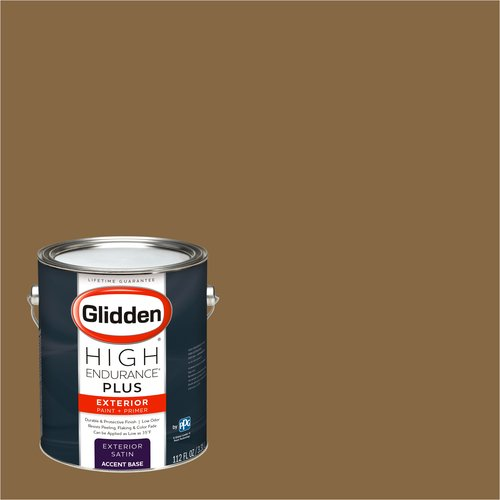 Glidden High Endurance Plus Exterior Paint and Primer, Goldstone, #00YY 19/261