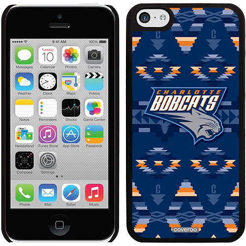 Charlotte Bobcats Tribal Print Design on Apple iPhone 5c Thinshield Snap-On Case by Coveroo