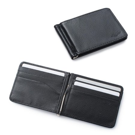 0452578e Zodaca Stylish Men's Slim Leather Bifold Wallet Purse Credit Card Holder  Case with Removable Money Clip - Black | Walmart Canada