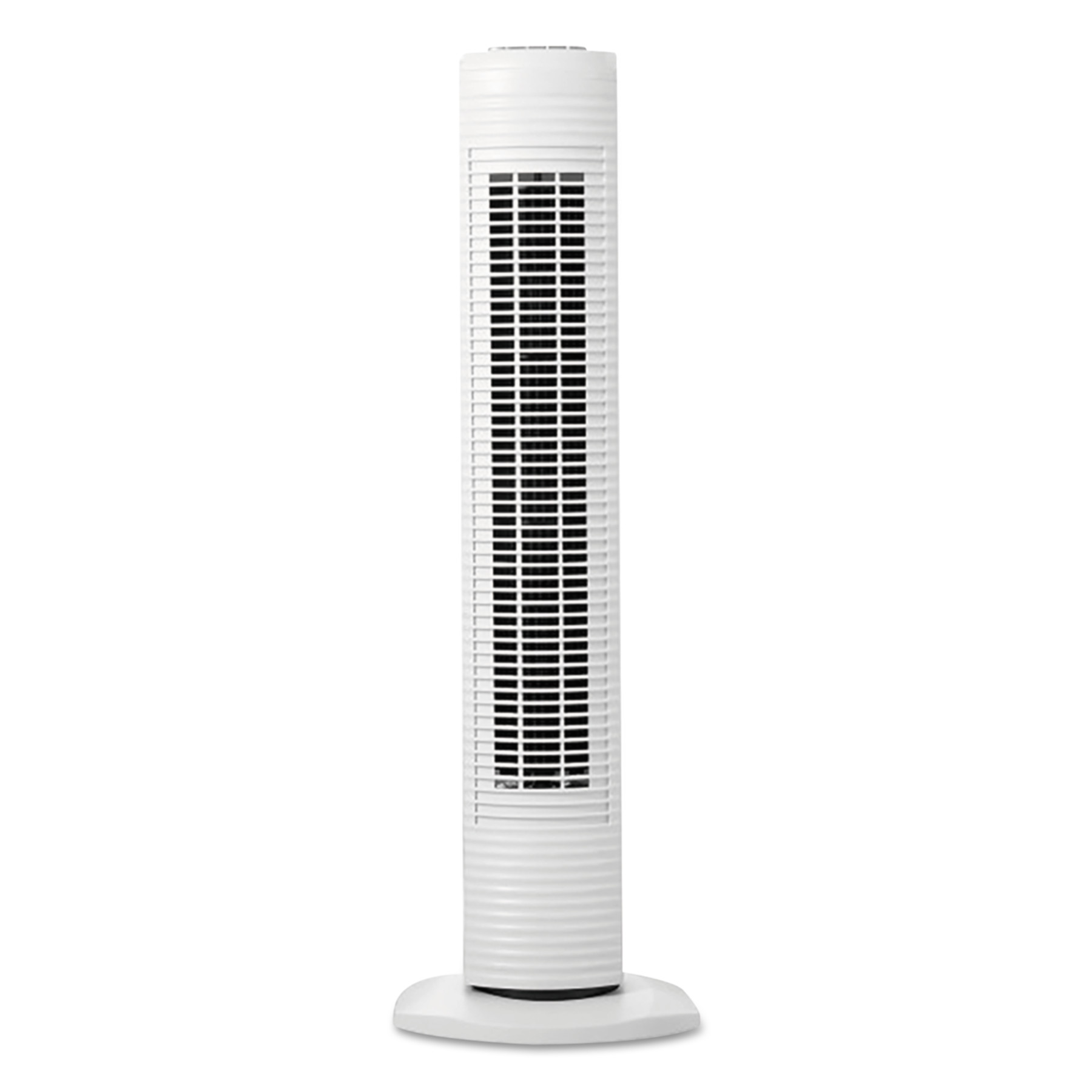 "Holmes Oscillating Tower Fan, Three-Speed, White, 5 9/10""W x 31""H"