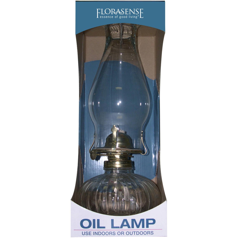 Florasense Glass Oil Lamp, Clear