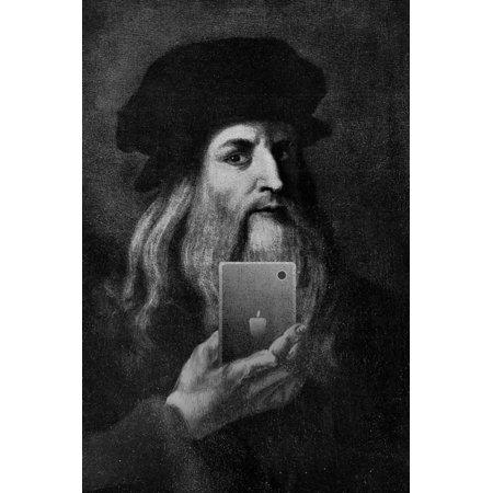Leonardo Da Vinci Selfie Portrait Print Wall Art