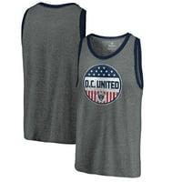 D.C. United Fanatics Branded Americana Parade Pin Tri-Blend Tank Top - Heathered Gray