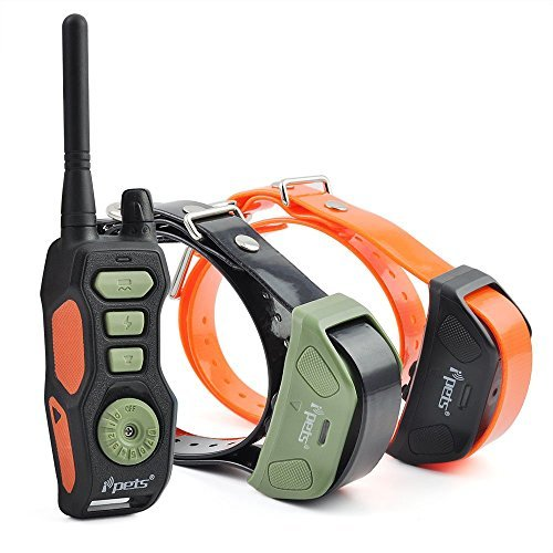 Ipets 880Yards E-collar Rechargeable and Waterproof 3 Dog...