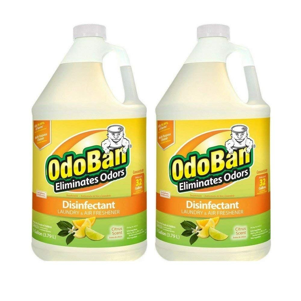 OdoBan Citrus Odor Eliminator and Disinfectant Multi-Purpose Cleaner Concentrate (2 Gal), 2 Pack