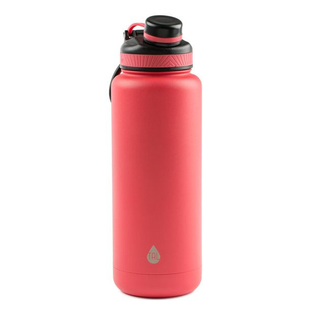 Tal 40 Ounce Double Wall Vacuum Insulated Stainless Steel Ranger Pro Water Bottle, Coral