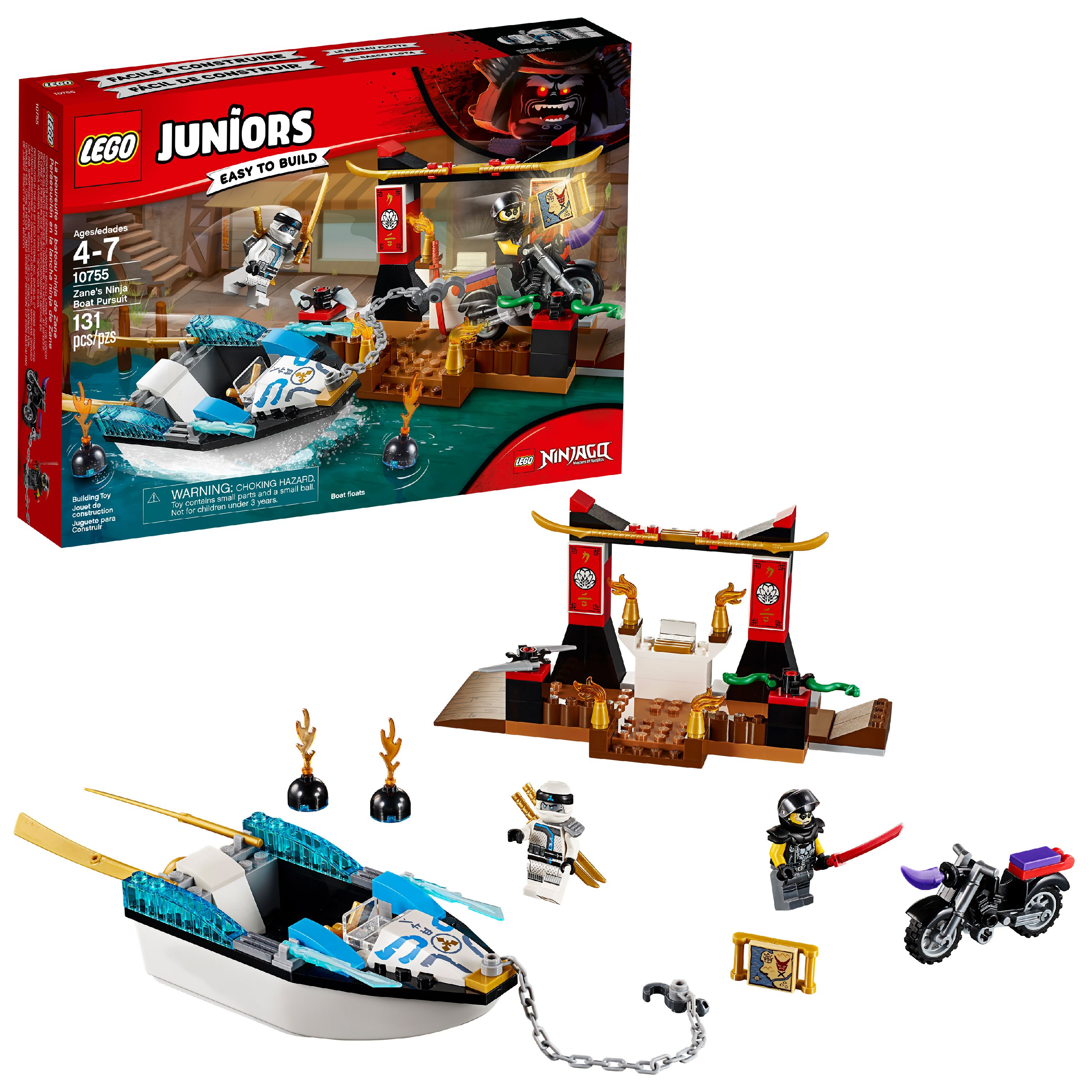 LEGO Juniors Zane's Ninja Boat Pursuit 10755 (131 Pieces)