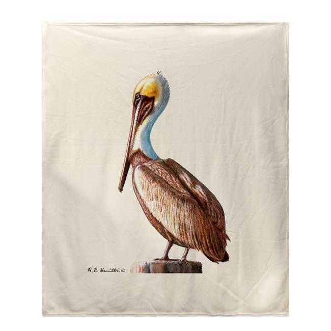 Betsy Drake BK035 Pelican Fleece Throw
