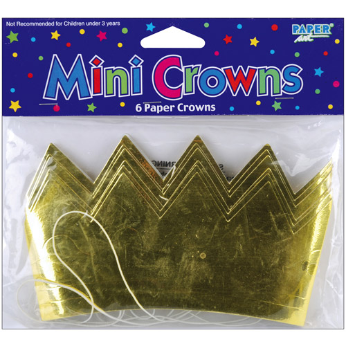 Mini Crowns, 6-Pack, Gold