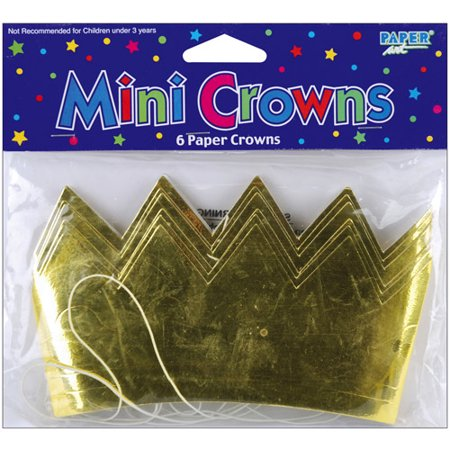 Mini Foil Crown, 6 pk - Mini Crowns