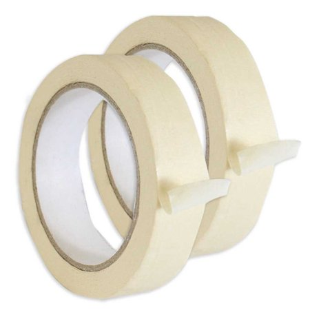 - Roll of Beige Masking Tape-1 Inch Wide X 30 Meters Long