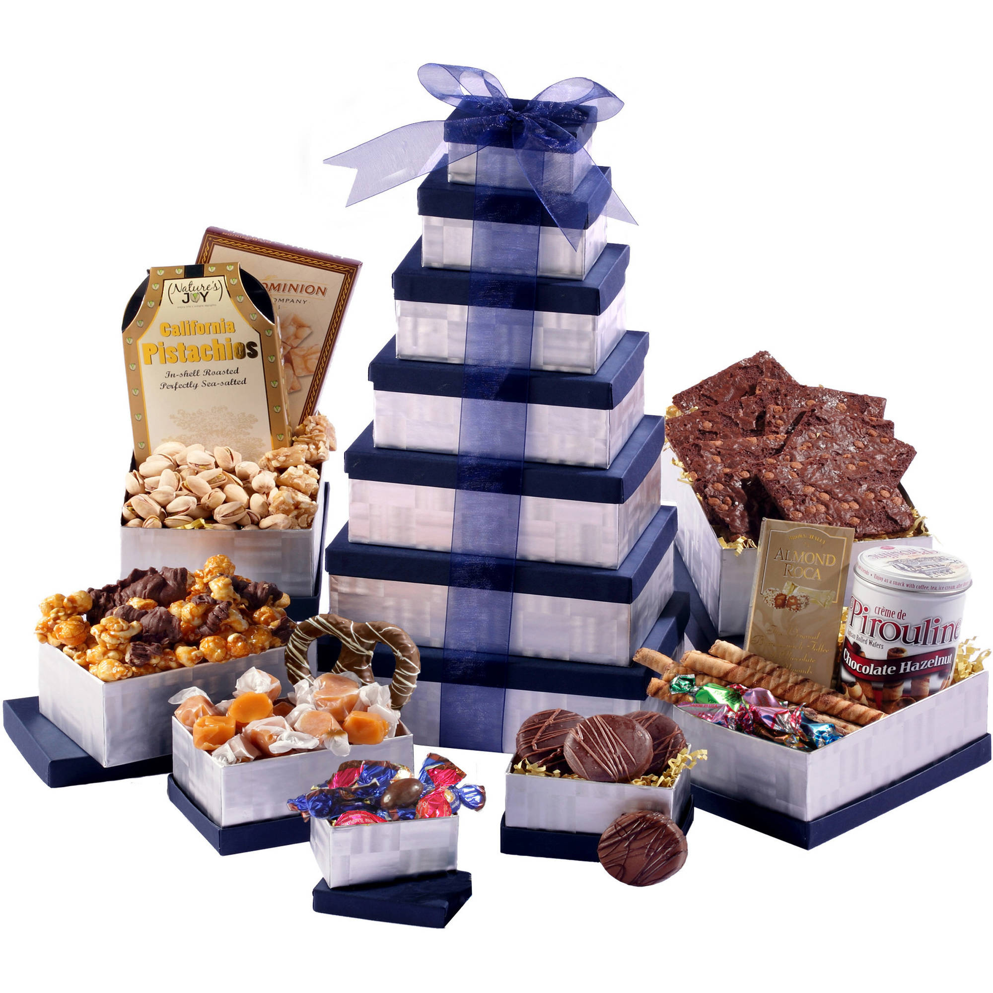 Broadway Basketeers Any Occasion Thinking of You Chocolate Delights Gift Basket Tower, 10 pc