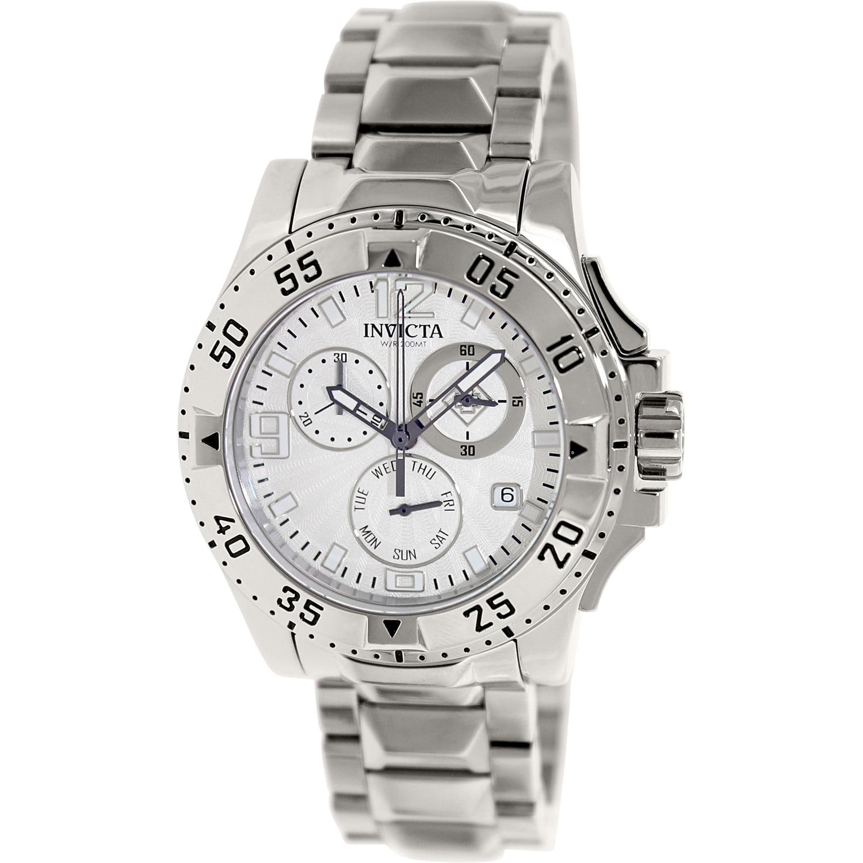 Invicta Men's Excursion 16101 Silver Stainless-Steel Swiss Quartz Fashion Watch