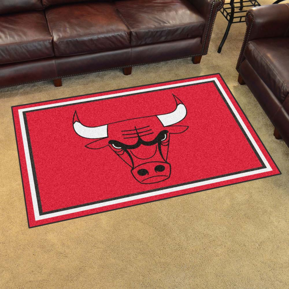 Chicago Bulls 4 Foot x 6 Foot Rug
