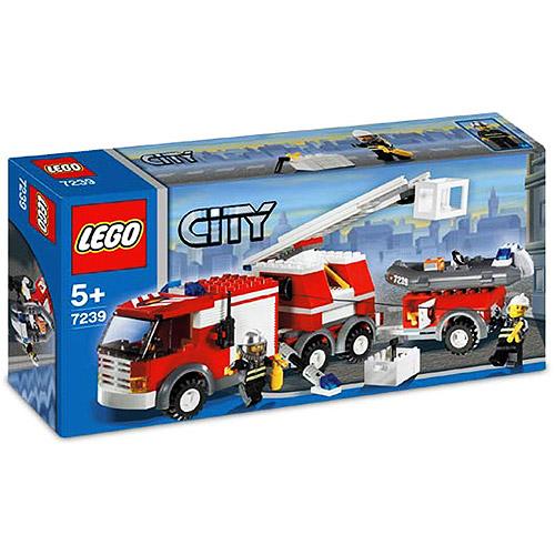 City Fire Truck Set Lego 7239 Walmart Com