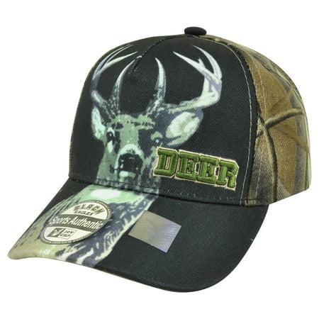Deer Buck Two Tone Camouflage Camo  Outdoor Hunting Hunt Hat Cap Camping Buck Deer Outdoor Light