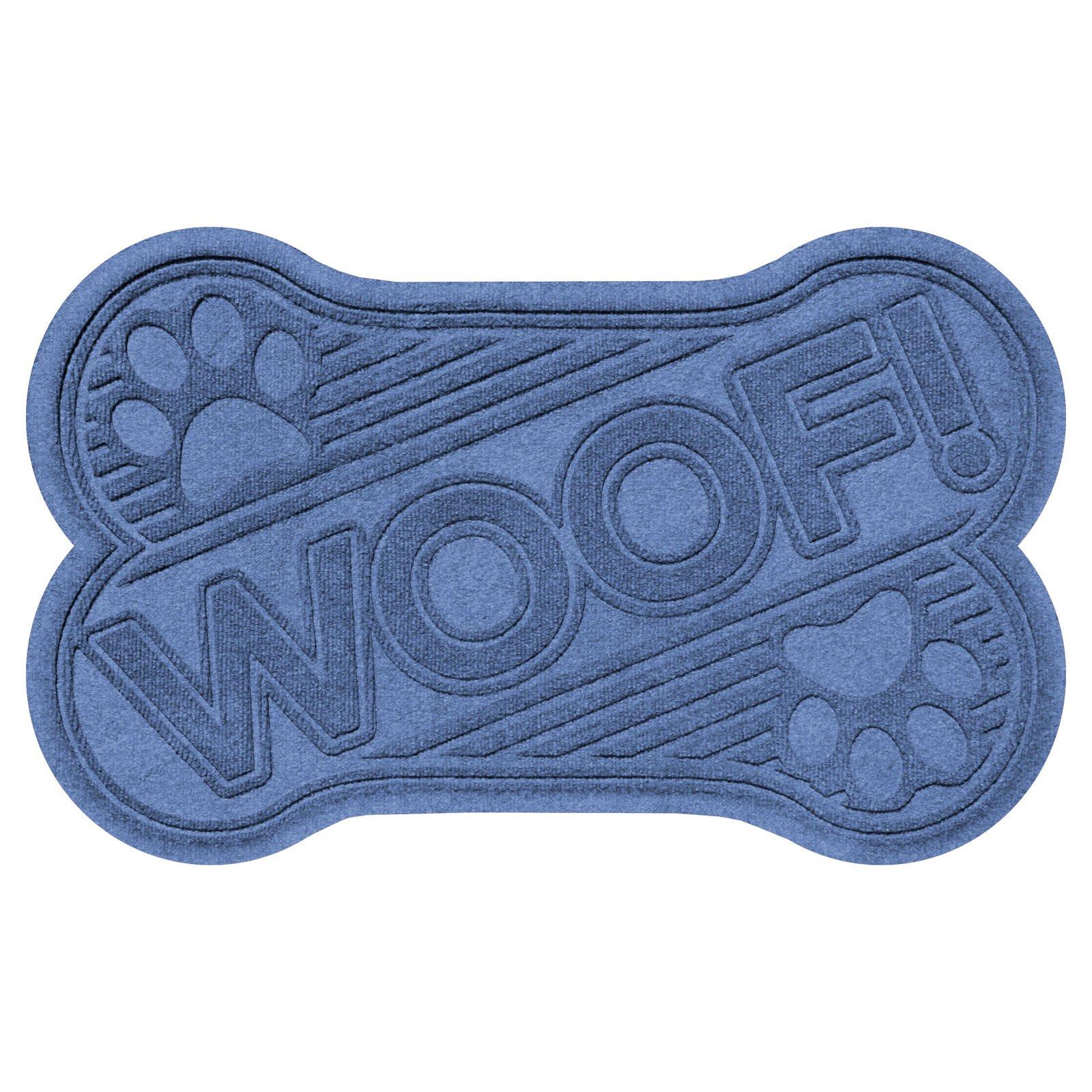 Bungalow Flooring Aqua Shield Dog Bone Woof Mat