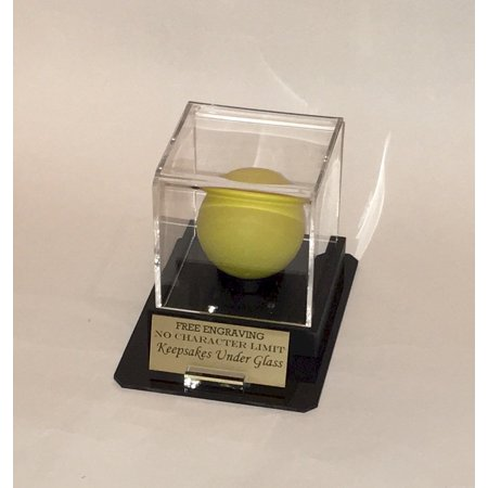 Octagon Acrylic (Lacrosse Ball Personalized Acrylic Display Case - Holder with Octagon Base, Custom Ball and Nameplate)