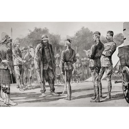 Majuba Day General Cronje Surrenders To Lord Roberts At Paardeberg South Africa February 27Th1900 From The Book South Africa And The Transvaal War By Louis Creswicke Published 1900 PosterPrint