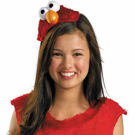 Make Fake Head Halloween (Sesame Street Elmo Adult Headband Halloween Costume)