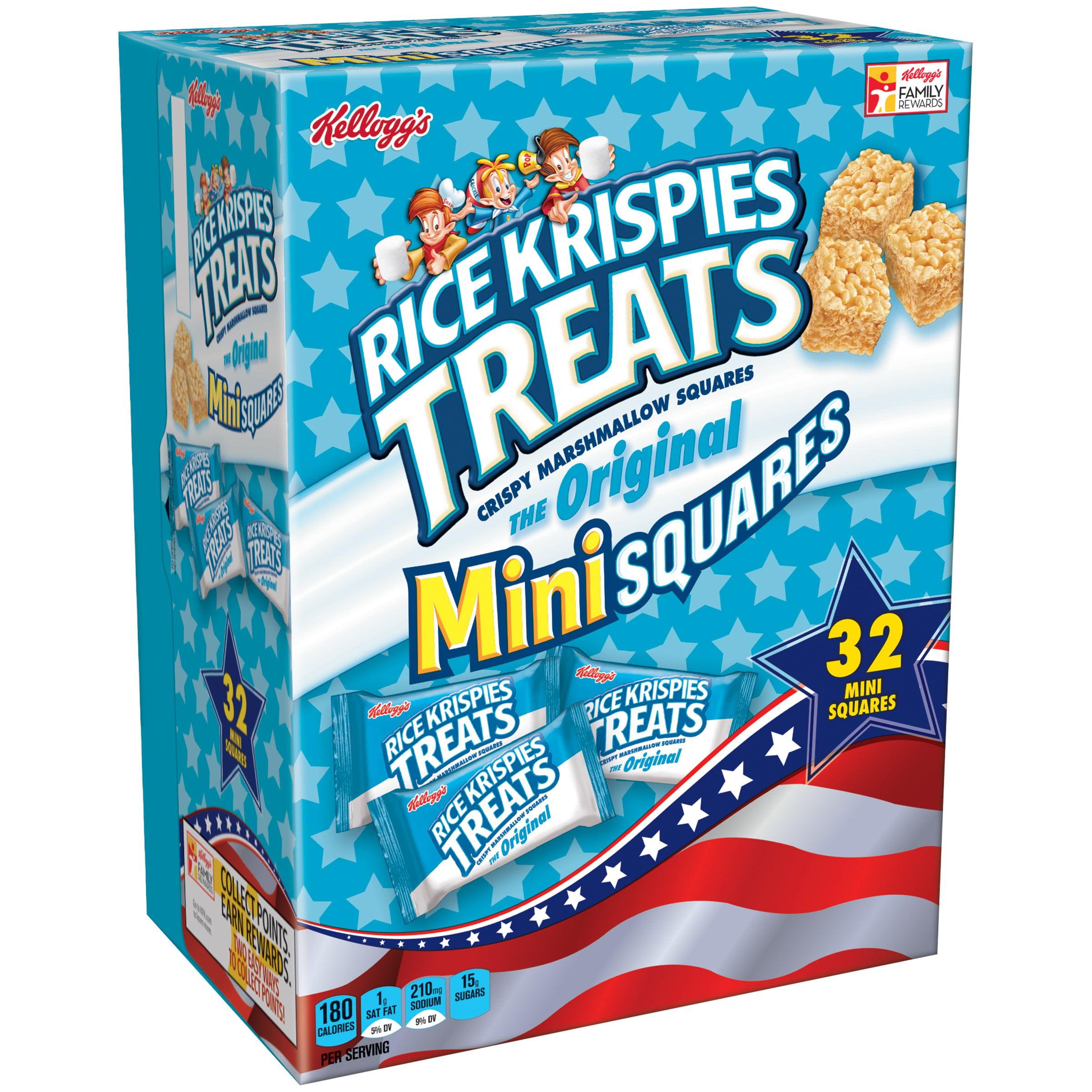 Kellogg's Rice Krispies Treats Mini Squares, 32 Ct ...