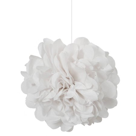 White Tissue Paper Pom Poms, 9in, 3ct - Diy Tissue Pom Poms
