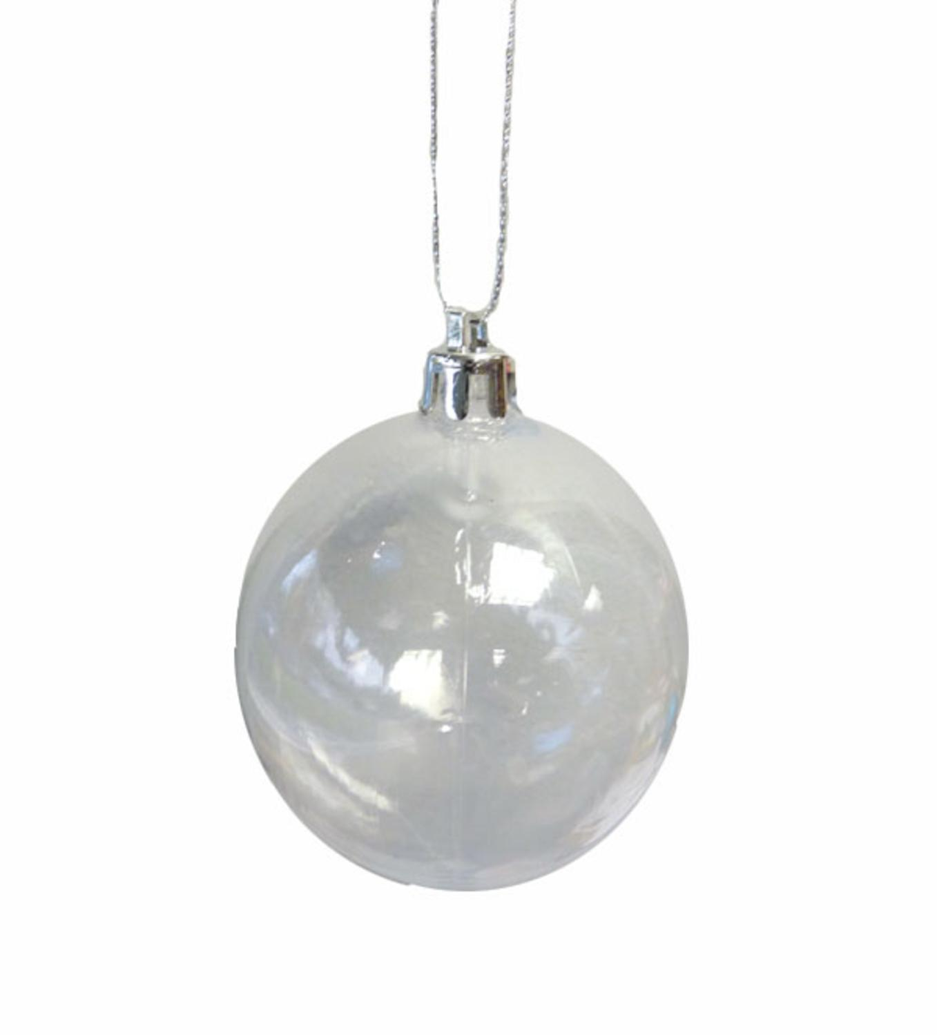 Clear plastic christmas ornament - Shatterproof Clear Transparent Christmas Ball Ornament 4 75 120mm