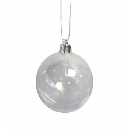 Clear Transparent Shatterproof Christmas Ball Ornament 4