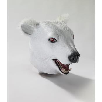 MASK-DLX LATEX POLAR BEAR - Bear Mask