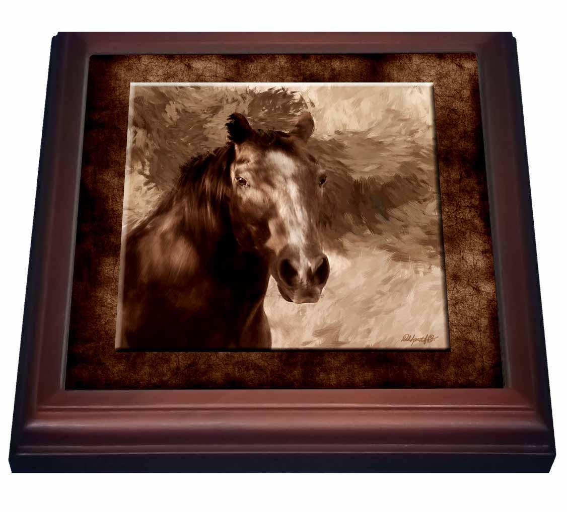 3dRose Ranch Horse, Trivet with Ceramic Tile, 8 by 8-inch by 3dRose