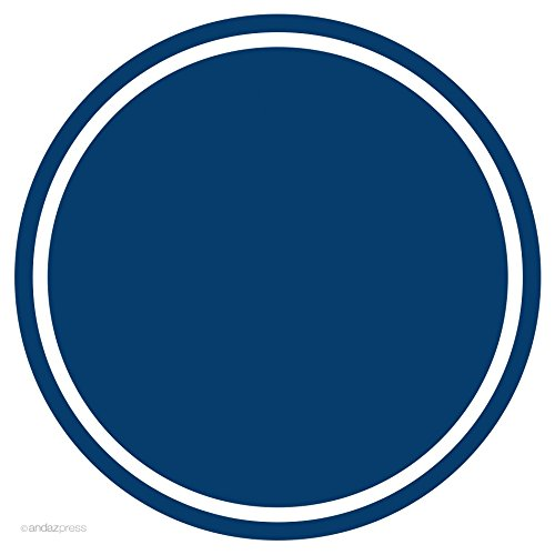 Navy Blue Solid Color Circle Gift Labels, 40-Pack