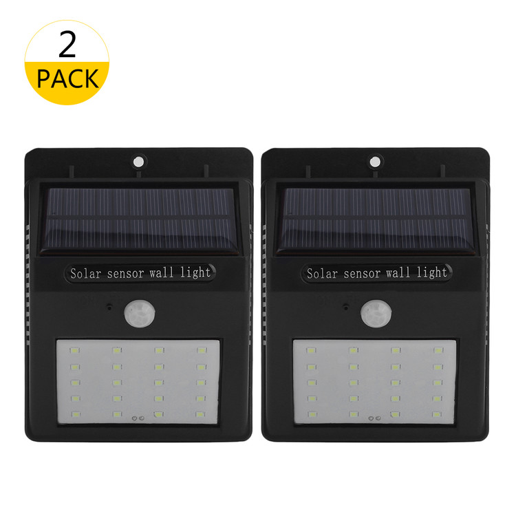 2 Pack Outdoor LED Motion Sensor Solar Light with 20 Brig...