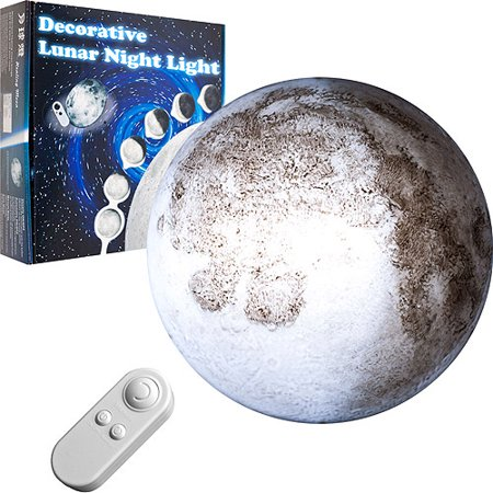 Moon projection night light with remote control - Remote control night light ...