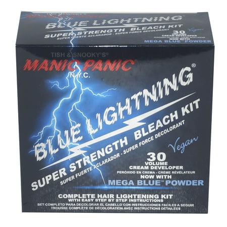 MANIC PANIC Blue Lightning Super Strength Hair Bleach Kit 30 VOLUME Vol NEW