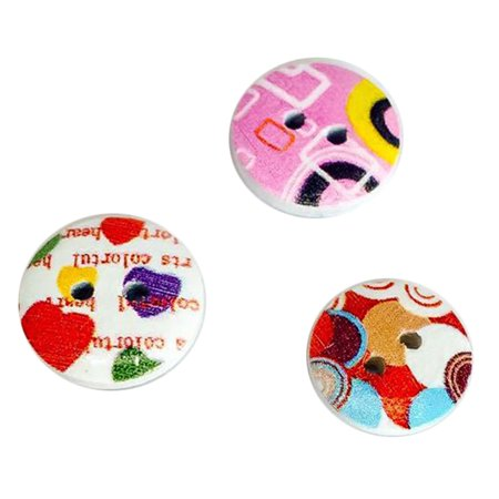 Ustyle 100Pcs/bag Wood Cute Cartoon Animal Buttons Sewing Children Buttons Clothes Ornament DIY Making - image 2 of 6
