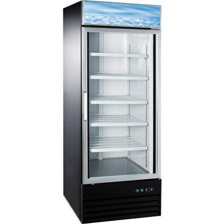 Eq Kitchen Line D648bmf 1 Glass Door Reach In Freezer Black