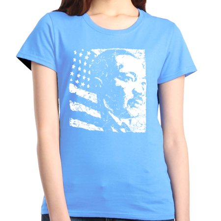 Shop4Ever Women's Martin Luther King Jr. Graphic T-Shirt ()