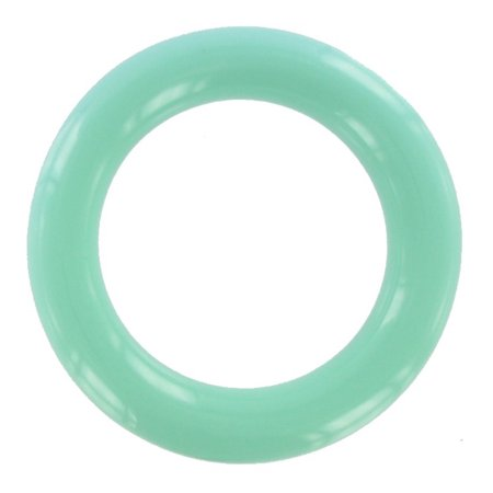 Plastic Charm Bracelets (Mint Green Lucite Plastic Smooth Tube Heavy Bangle)