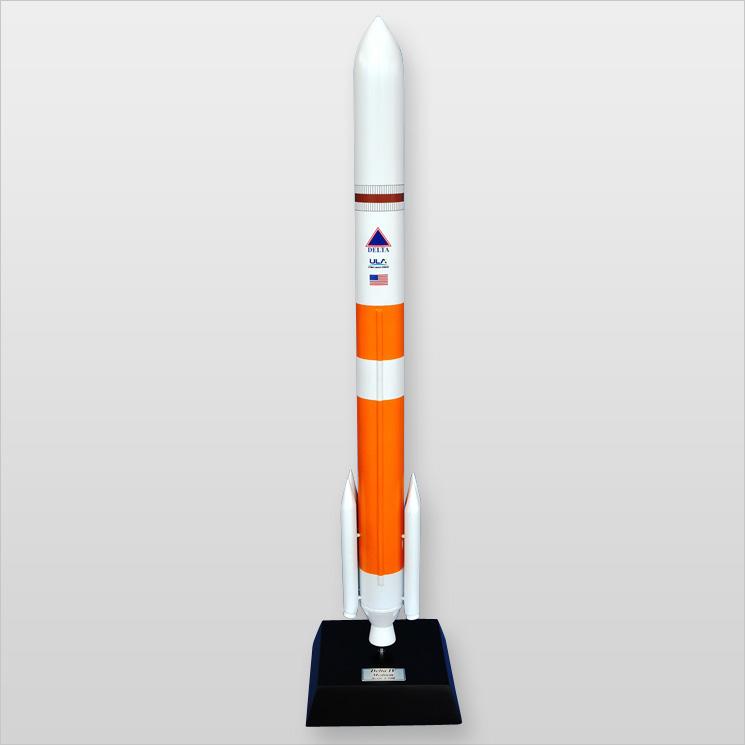 Delta IV Rocket (medium) Desktop Wood Model by