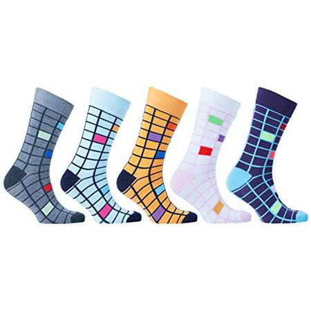 661afd5e6444b socks-n-socks - socks n socks - men's 5-pairs luxury cotton cool funky  colorful fashion designer fun patterned dress socks with gift box -  Walmart.com