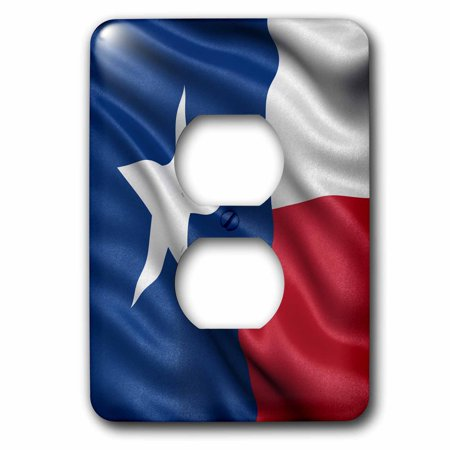 Texas Flag Cover (3dRose Texas state flag - 2 Plug Outlet Cover)