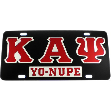 Kappa Alpha Psi Yo Nupe Mirror Insert Car Tag License Plate  Black   Car Truck