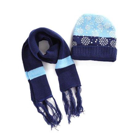 Ymiko Kids Hat Scarf Set Ymiko 4colors Snowflake Winter Warm