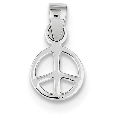 Finejewelers sterling silver small peace symbol pendant necklace finejewelers sterling silver small peace symbol pendant necklace chain included aloadofball Images