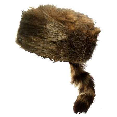 Child's Medium Daniel Boone Raccoon Blonde Coonskin Hat Costume (Child's Daniel Boone Halloween Costume)