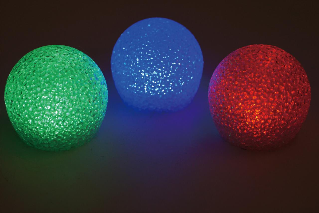 Mainstays LED Glitter Globe Swimming Pool Lights - Pack of 3 (Assorted  Colors)