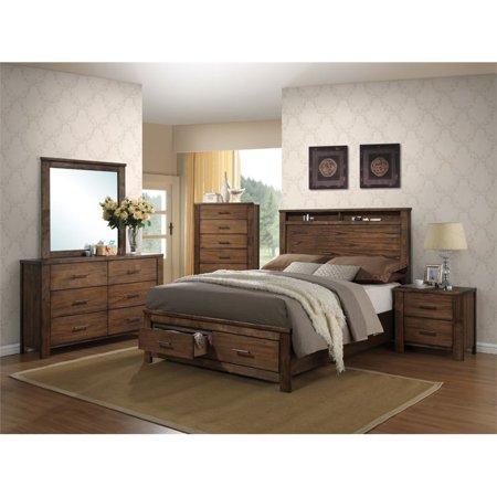 - Bowery Hill Queen Storage Bed in Oak