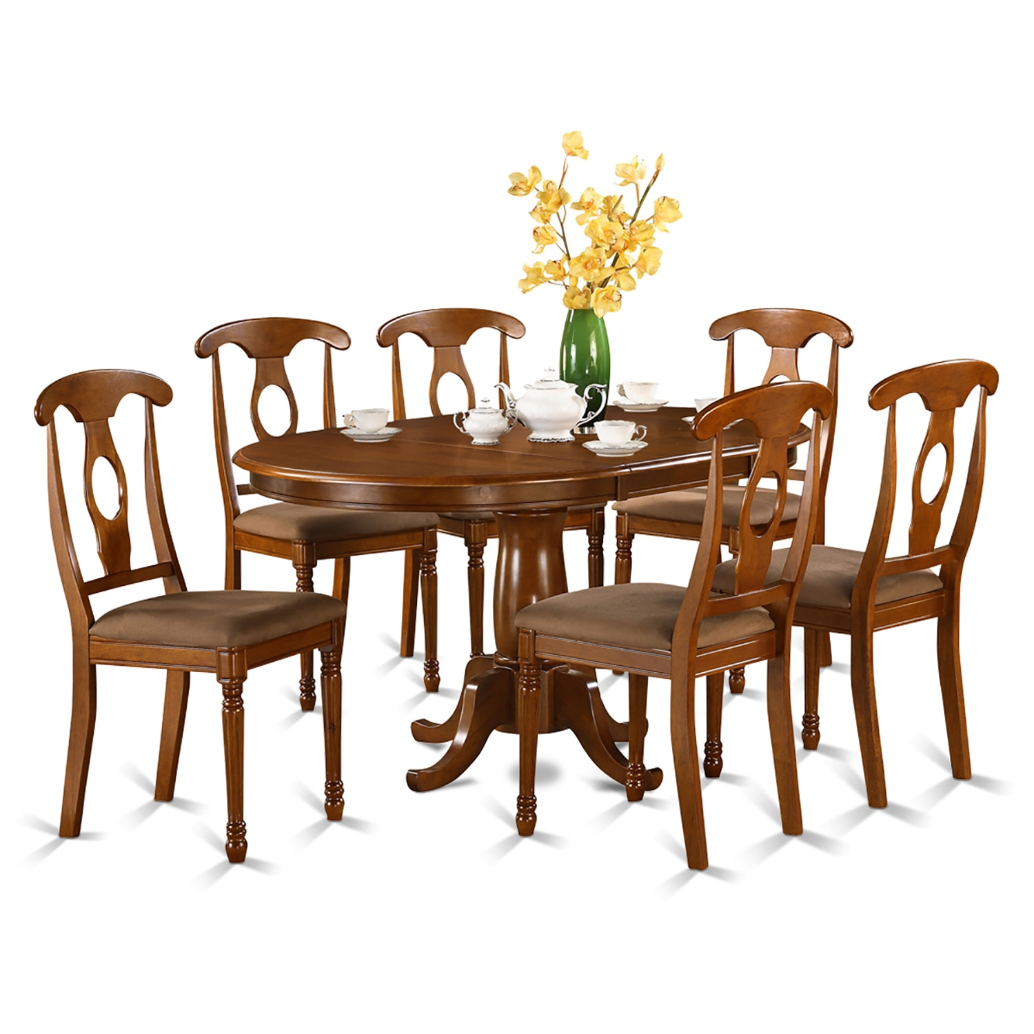 pona7 sbr w 7 piece dining room set oval dining table with