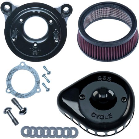 S&S Cycle 170-0438 Mini Teardrop Stealth Air Cleaner Kit - Gloss Black