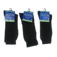 3 Pairs Phillip Edwards Rx Socks Diabetic Circulatory Black Crew Size 10-13